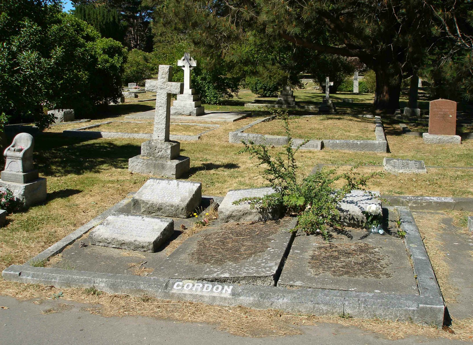 William Gordon is buried in the Gordon family plot in Ross Bay Cemetery, Victoria, B.C.