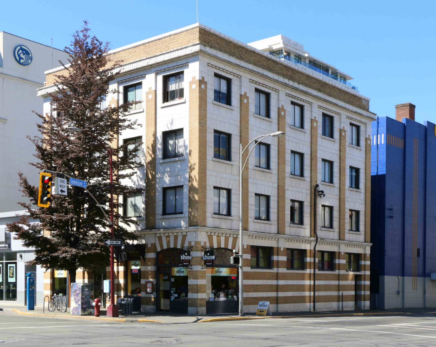 1320-1324 Blanshard Street, Victoria, B.C. Built in 1913 by architect Thomas Hooper for Max Leiser, who opened it as the Kaiserhof Hotel