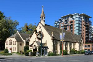 The Church of Our Lord, 626 Blanshard Street, Victoria, B.C. Designed and built in 1876 by architect John Teague for Rev. Edward Cridge and the Reformed Episcopal Church