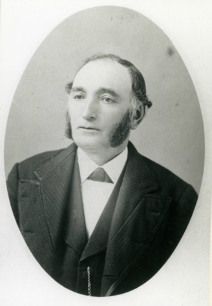 Lewis Lewis (died 1904, aged 77) was a member of Vancouver & Quadra Lodge No. 2 in Victoria. He was a leading member of Victoria's Jewish community (photo courtesy of Congregation Beth Emanu-El)