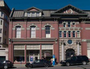 The 1909 addition to the Victoria Masonic Temple, 650 Fisgard Street, Victoria, B.C.