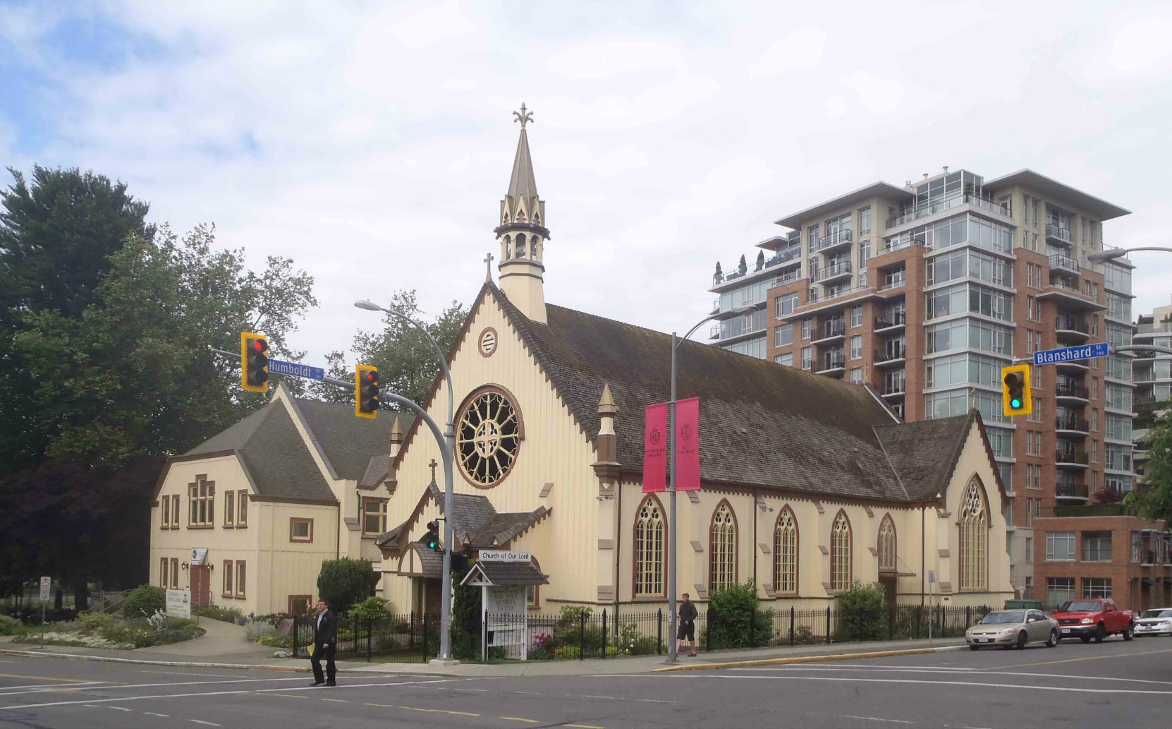 The Church of Our Lord, 626 Blanshard Street, Vuctoria, B.C. Built in 1876 by architect John Teague for Rev. Edward Cridge and the Reformed Episcopal Church.
