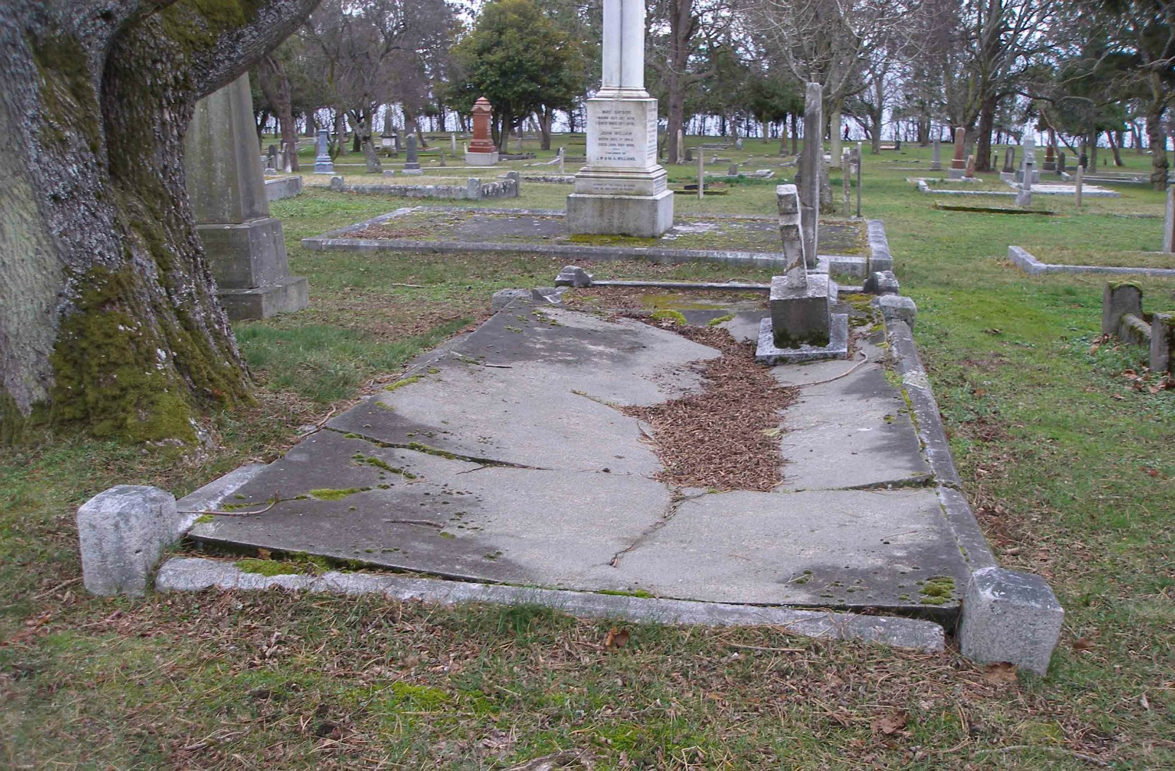 Thomas Earle grave, Ross Bay Cemetery, Victoria, B.C.