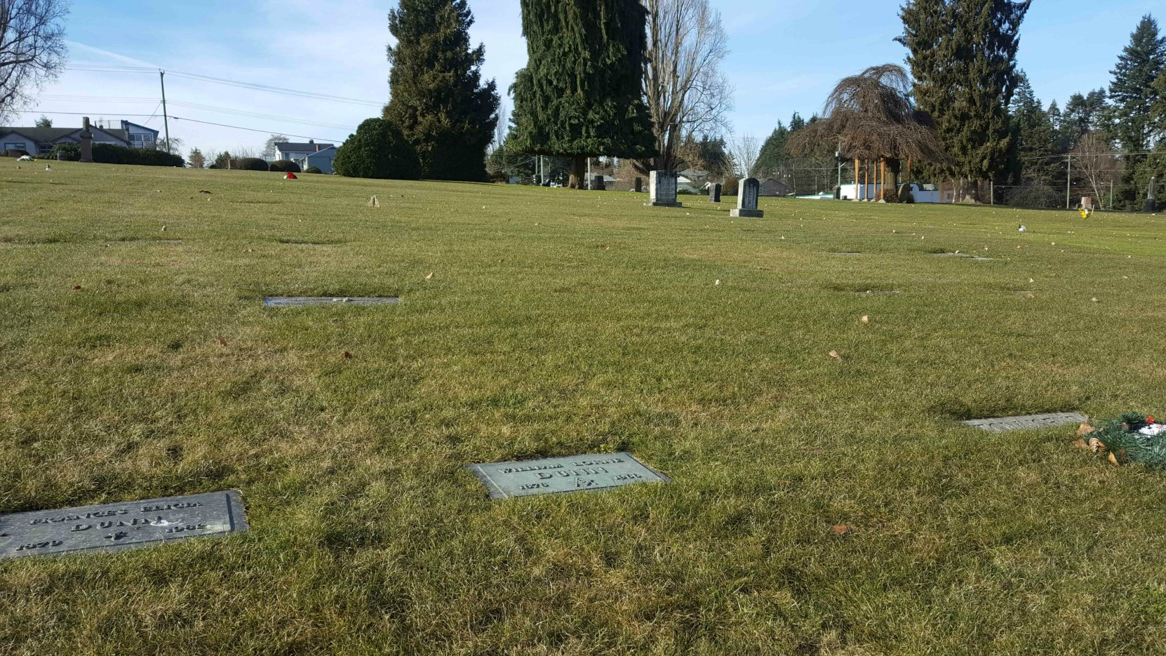 William Lorne Dunn grave, Bowen Road Cemetery, Nanaimo, B.C.