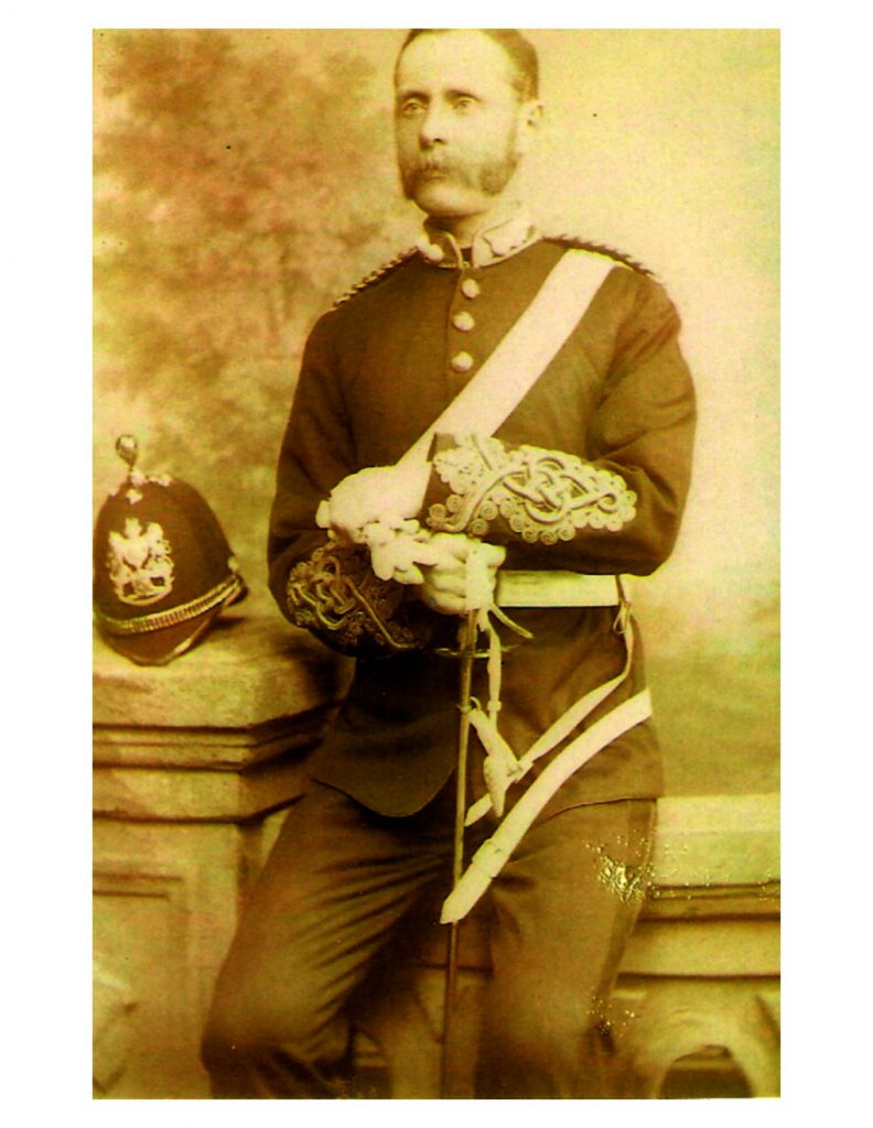 Major James Mitchell Mutter in military uniform, 1887