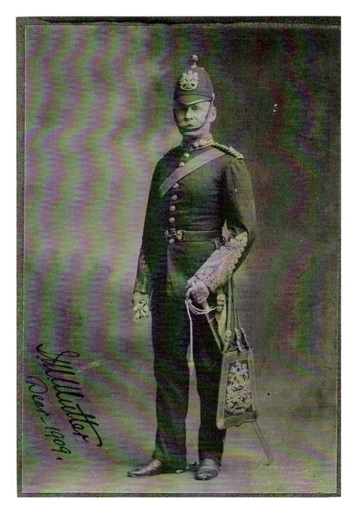 Major James Mitchell Mutter in military uniform, 1909