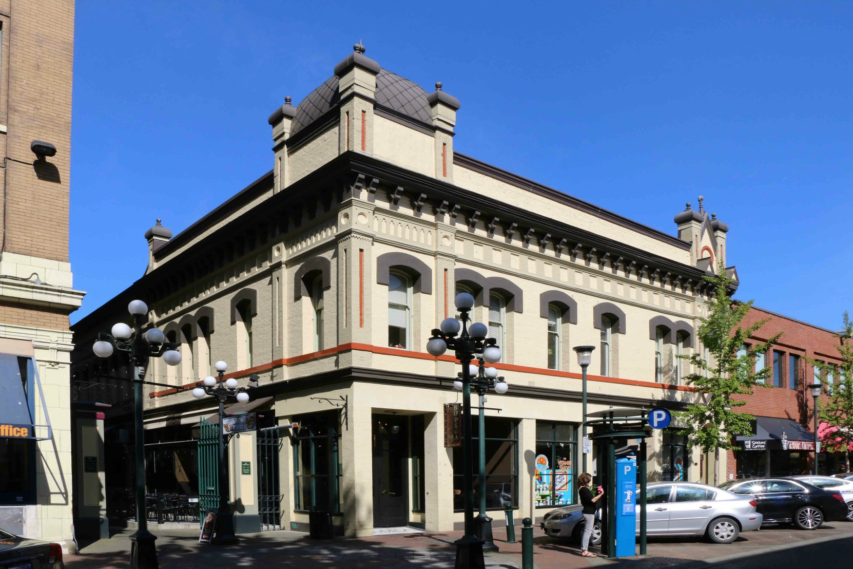 1210-1216 Broad Street, Victoria. Built in 1889 by architect Thomas Trounce for Alexander Alfred Green