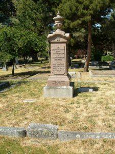 Charles Hayward family burial plot, Ross Bay Cemetery, Victoria, B.C. (photo by Temple Lodge No. 33 Historian)