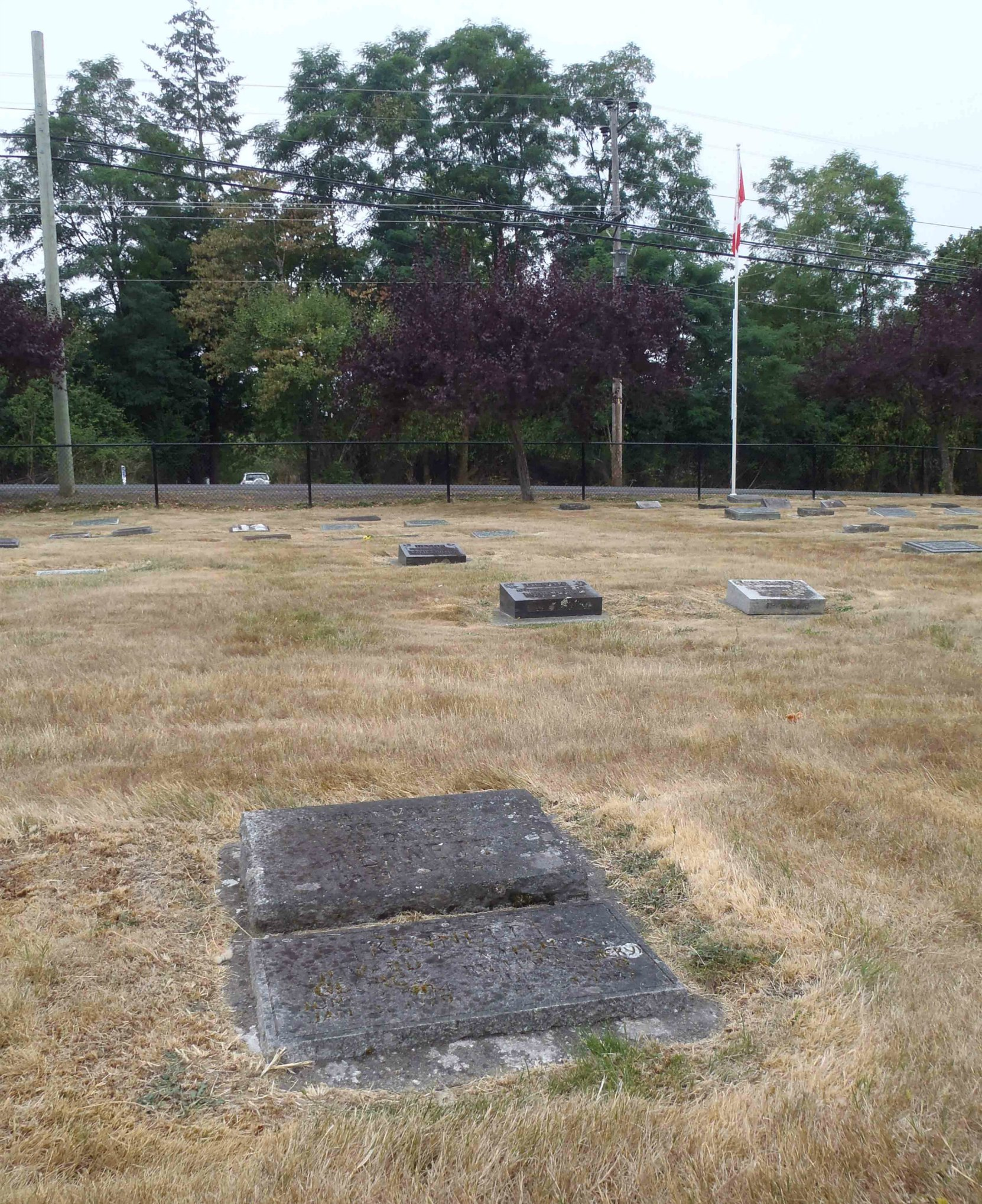 "Richard ""Bucky"" Kennett grave, Mountain View Cemetery, North Cowichan (photo by Temple Lodge No. 33 Historian)"