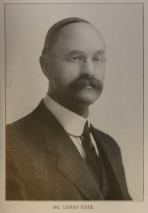 Dr. Lewis Hall, circa 1910 (courtesy of Cowichan Valley Museum & Archives)
