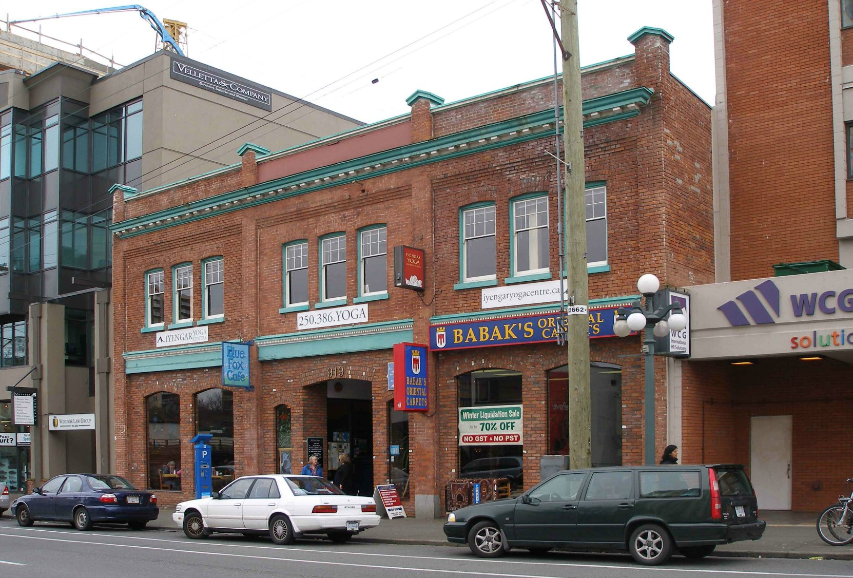 Catterall Building, 919 Fort Street in downtown Victoria, built as an investment property by Thomas Catterall. (photo by Temple Lodge No. 33 Historian)