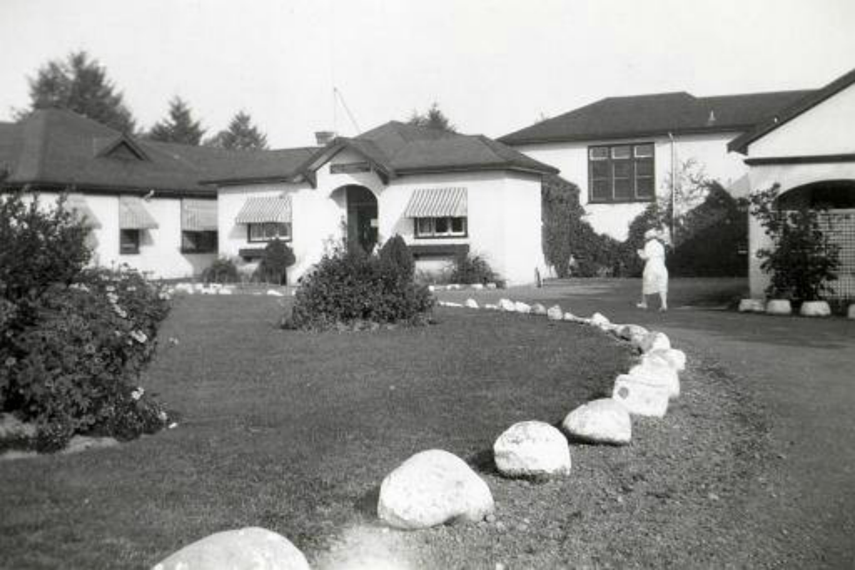 King's Daughters' Hospital, Duncan, B.C., circa 1940. This building has since been demolished and replaced by the Cairnsmore long term care facility.