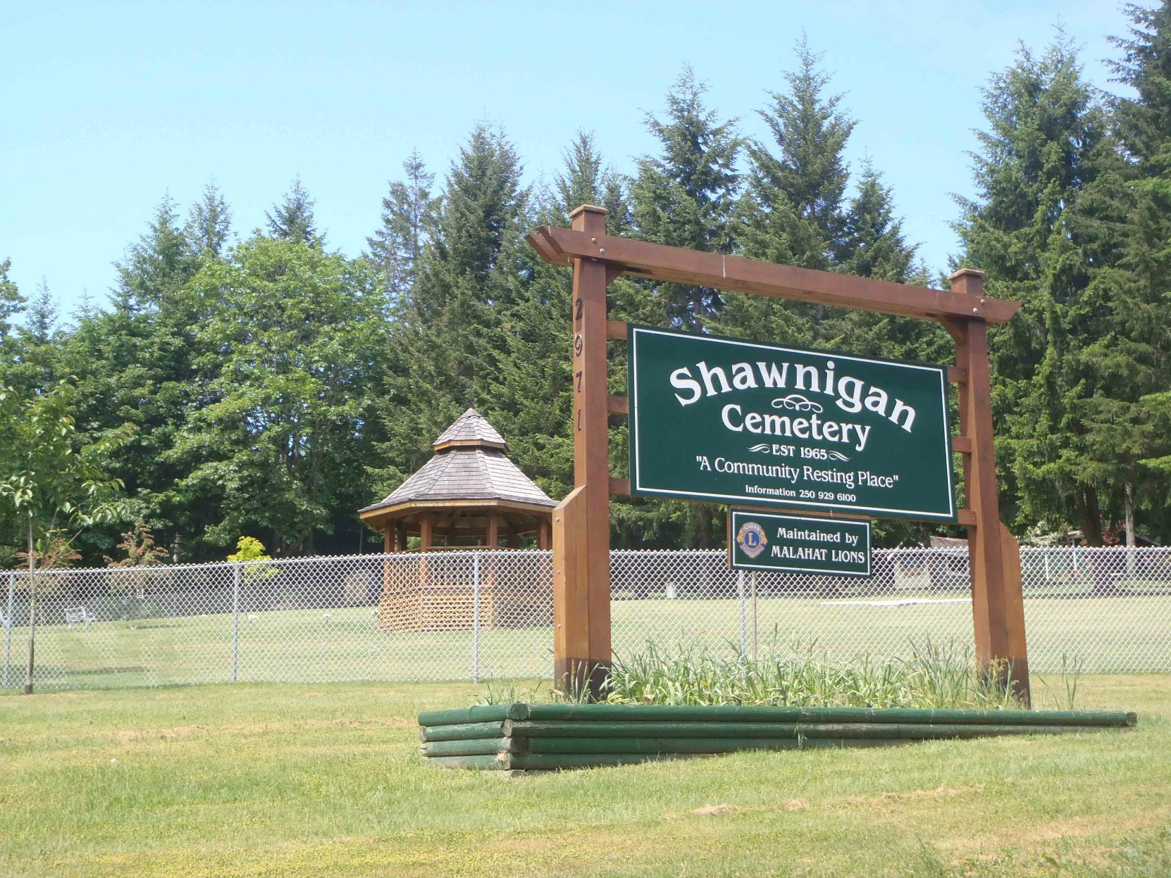 Shawnigan Cemetery, Shawnigan Lake, B.C. (photo by Temple Lodge No. 33 Historian)