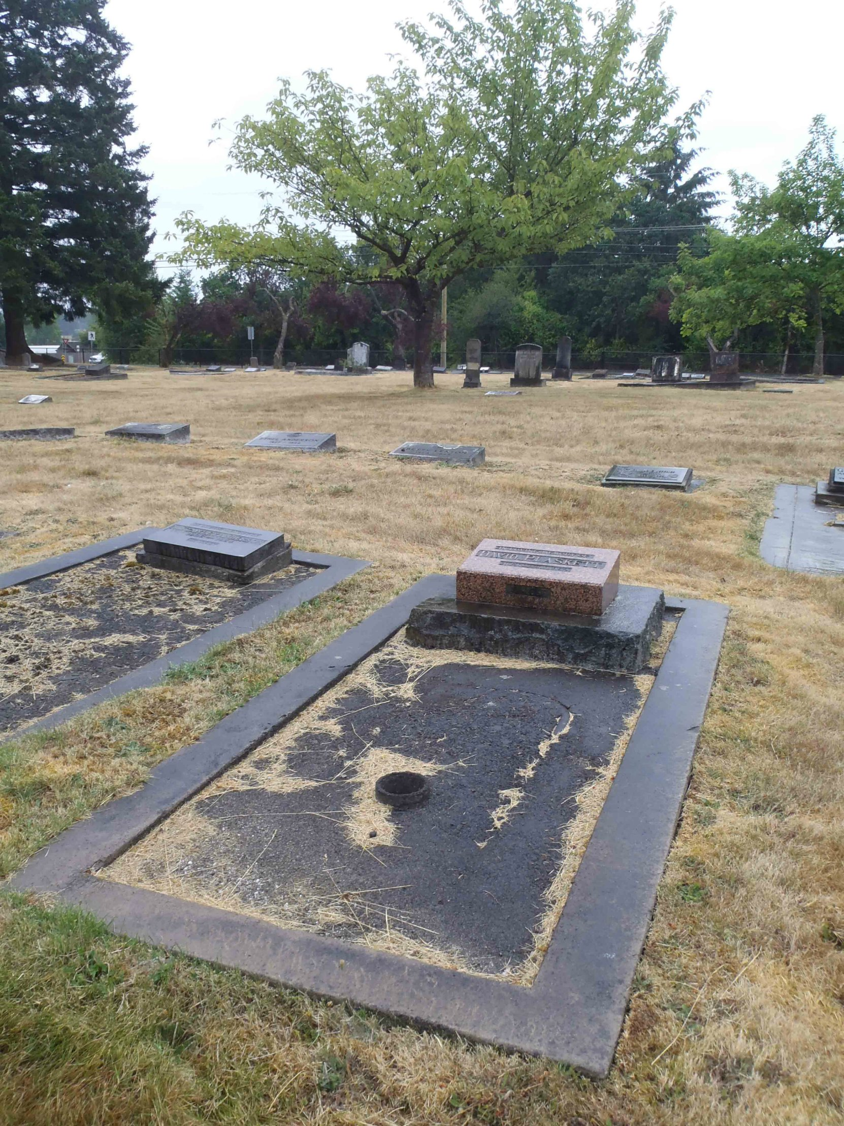 David Plaskett grave, Mountain View Cemetery, North Cowichan (photo by Temple Lodge No. 33 Historian)