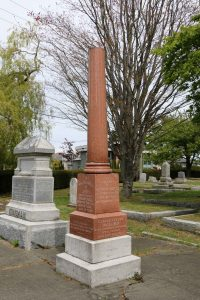 Richard Hall grave, Ross Bay Cemetery, Victoria, B.C. (photo by Temple Lodge No. 33 Historian)