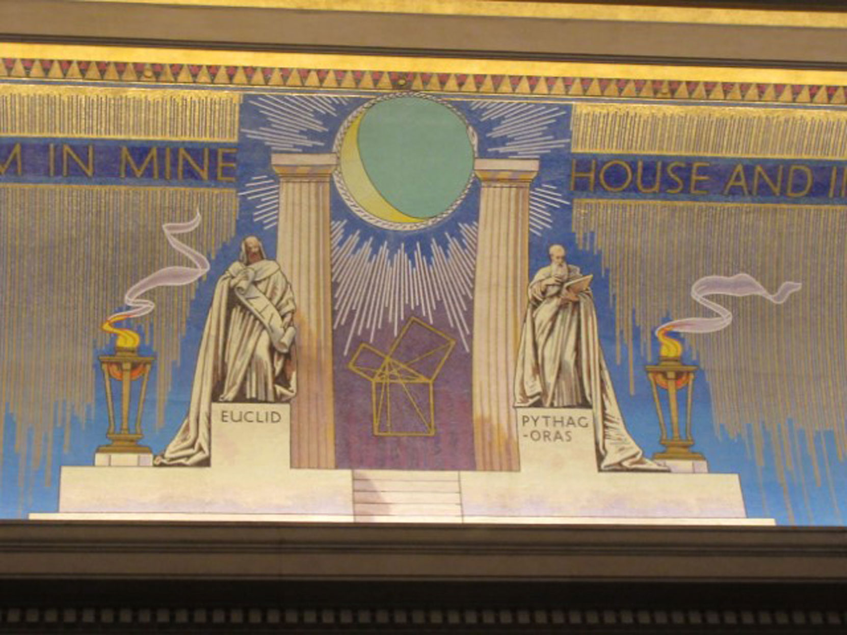 West Ceiling, Freemasons Hall, London, UK, July 2018 (photo by Paul Philcox)