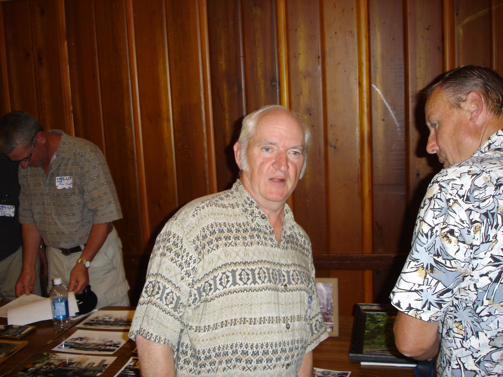 Bob Crawford at the Hillcrest Lumber Co. Employees Reunion in 2005. (photo courtesy of Cecil Ashley)