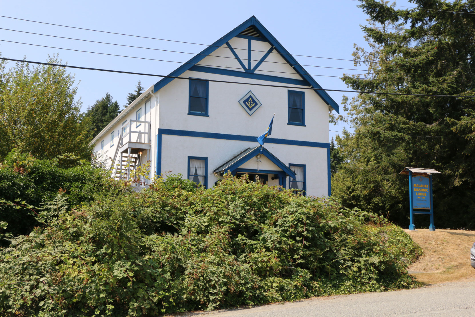 Malahat Lodge No. 107, Mill Bay, BC (photo by Temple Lodge No. 33 Historian)