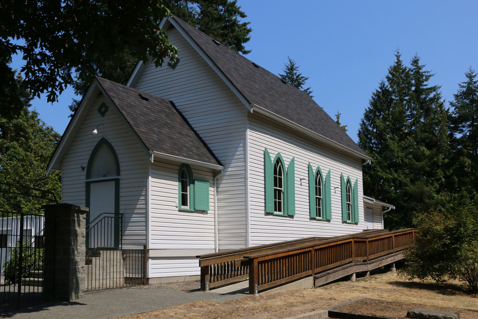 Mill Bay United Church and Cemetery, 2851 Church Way, Mill Bay, BC (photo by Temple Lodge No. 33 Historian)