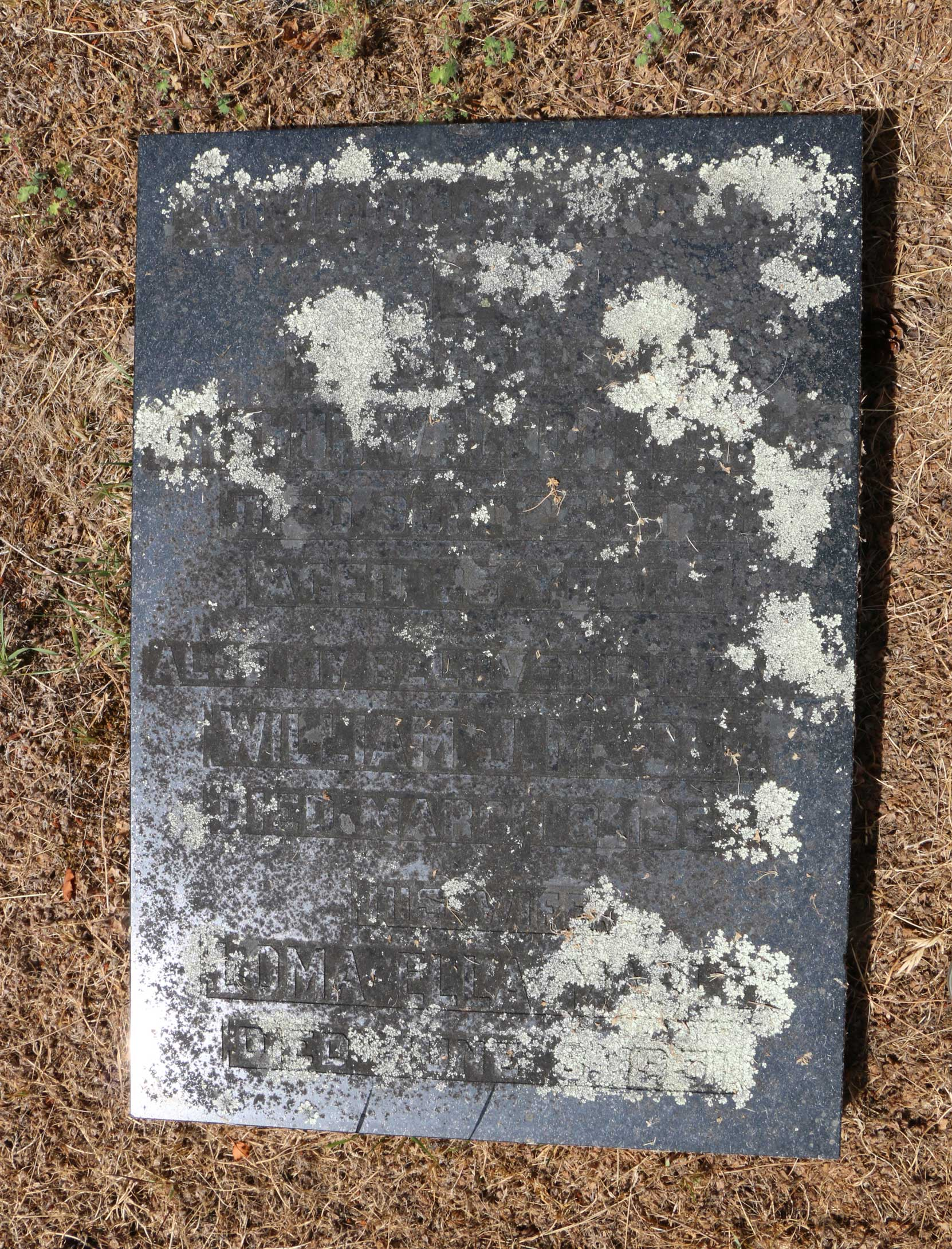 William Mable grave inscription, Ross Bay Cemetery, Victoria, BC (photo: Temple Lodge No. 33 Historian)