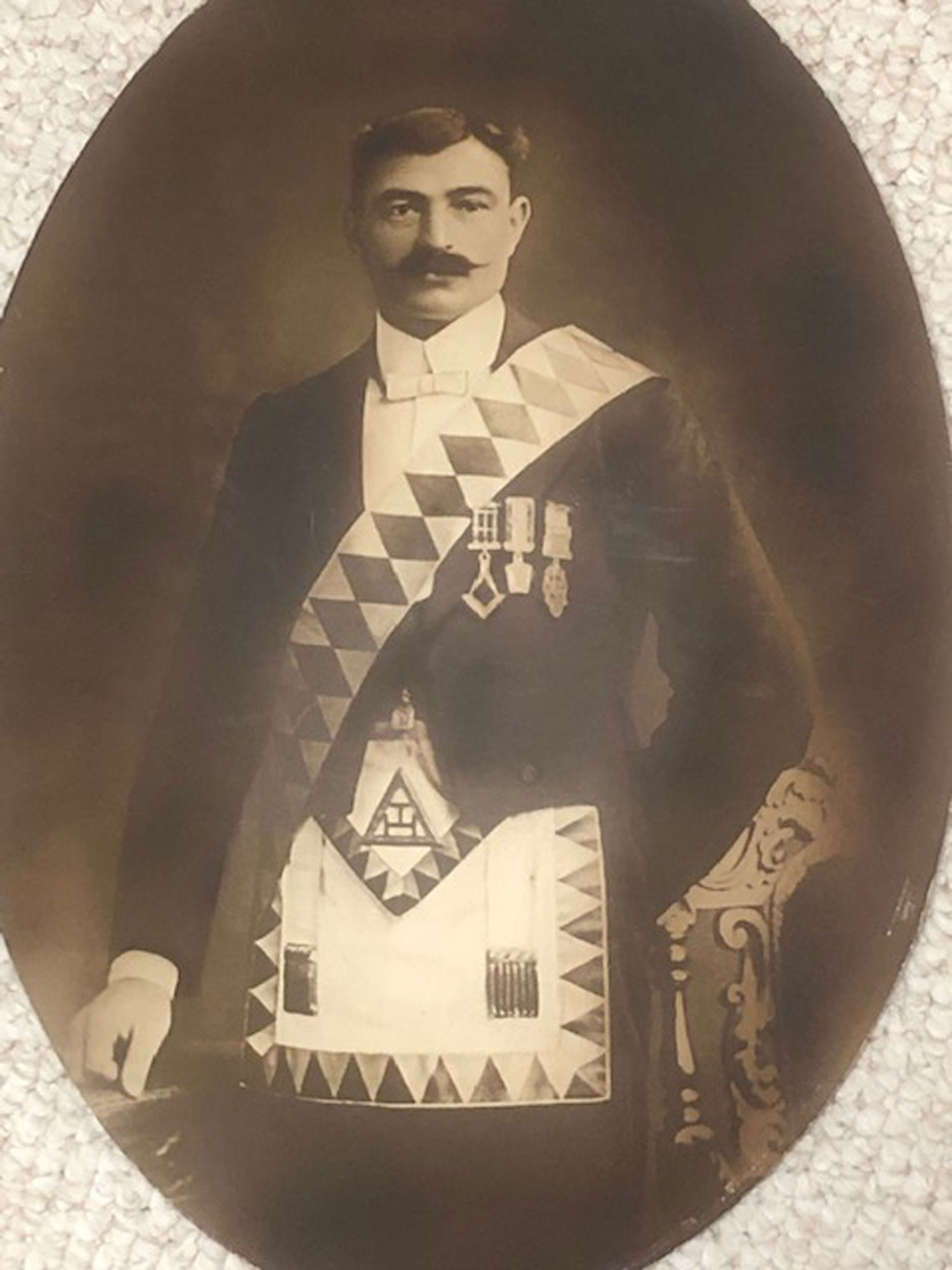 Nelson Ockenden in Royal Arch regalia, circa 1910 (Photo courtesy of David Ockenden - used with permission)