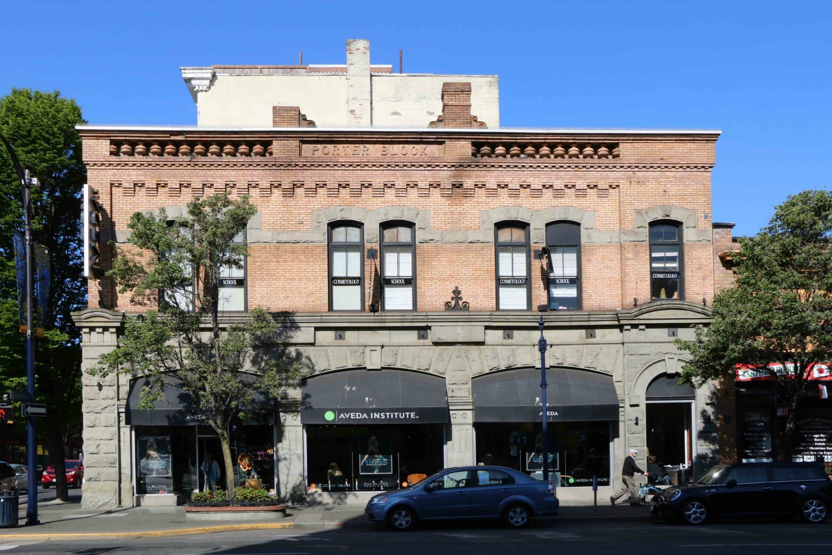 The Porter Block, 1402-1406 Douglas Street in downtown Victoria, B.C. Built in 1900 by architect W. Ridgway Wilson for Robert John Porter (photo_ Temple Lodge No. 33 Historian)