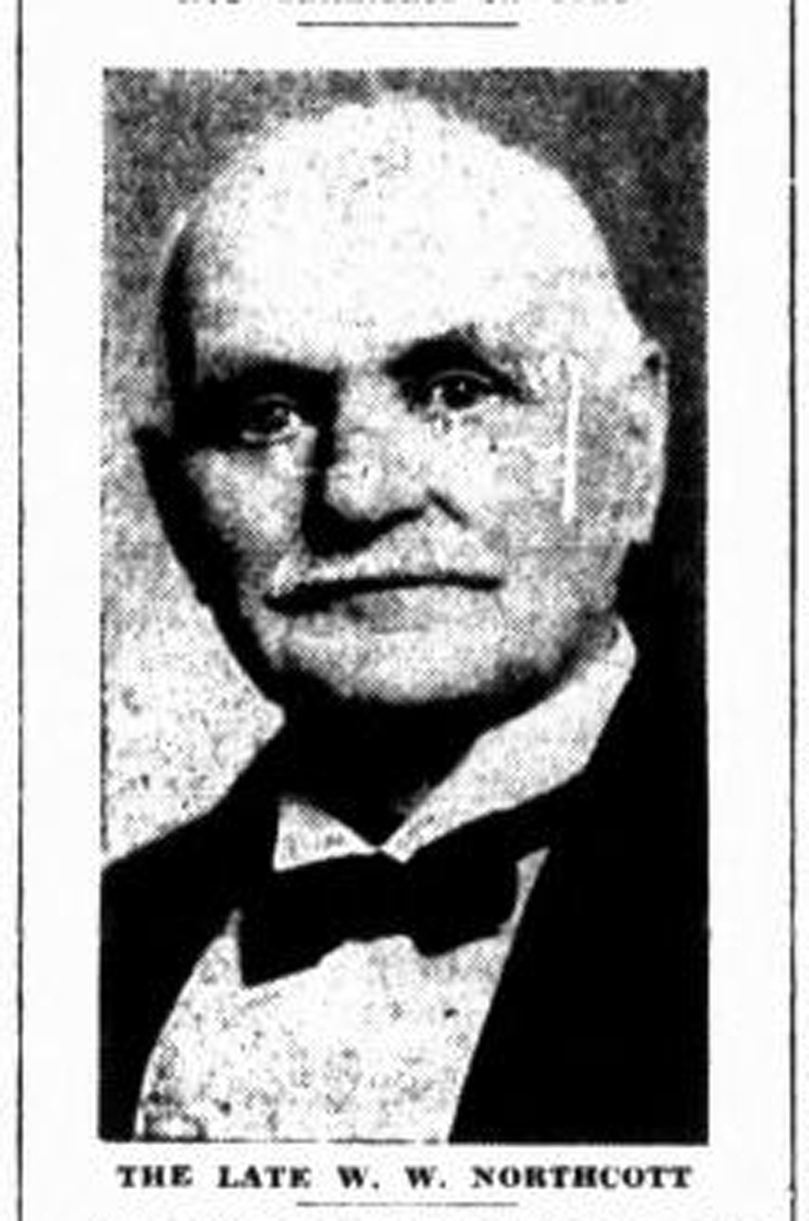 William Walter Northcott, obituary photograph, April 1923