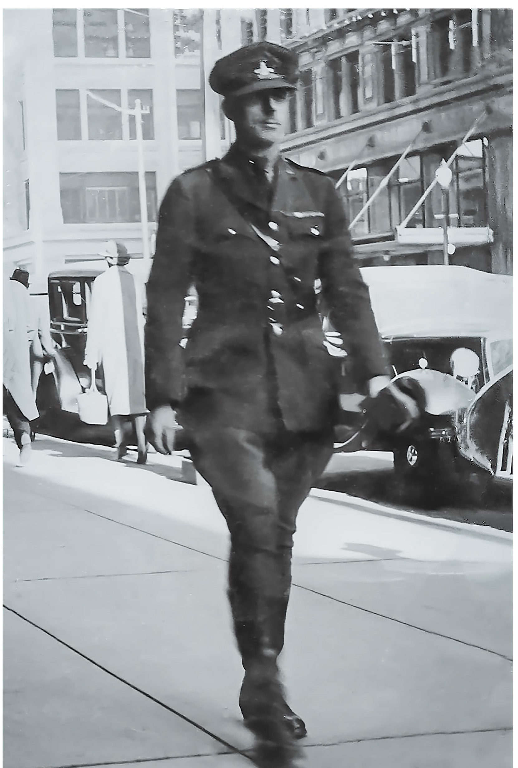 William Percy Aylward in B.C. Provincial Police uniform in Victoria, circa 1926 (photo courtesy of Rick Aylward, used with permission)