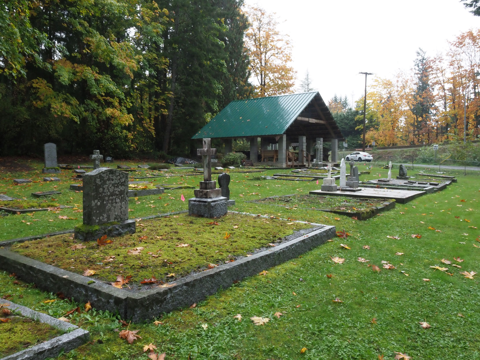 All Saints Anglican Cemetery, Westholme, B.C. (photo: Temple Lodge No. 33 Historian)